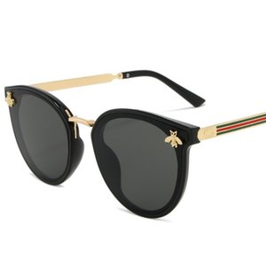 2020 abeille de mode pour femmes Lunettes de soleil Men Brand Design Lunettes de soleil rétro Oculos fer mâle ALIKIAI