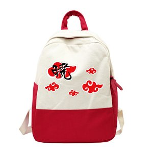 Japanische Anime Naruto Rucksack Akatsuki Itachi Sharingan Cosplay Schulrucksäcke für Jugendliche Laptop Reise Rucksack Taschen
