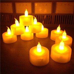 12 pc / pacchetto luce del tè senza fiamma Flickering LED 3.7 * 4cm Flicker Tea Party a lume di candela di nozze di Natale Candele di sicurezza della decorazione della casa
