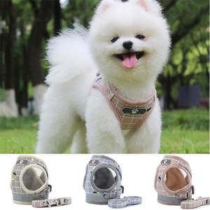 Yansıtıcı Çizgili köpek koşum tasma kayışları Seti Güvenli Yürüyüşü Köpek Tasması Köpek Giyim evcil köpek aksesuarları 360050 tasmaları