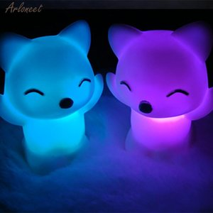 Led Toys 7 Changing Colors Lovely Fox Shape Lovely Bedroom Decoration For Baby Gift Romantic Colorful Light Wedding Party Decor aUmjG