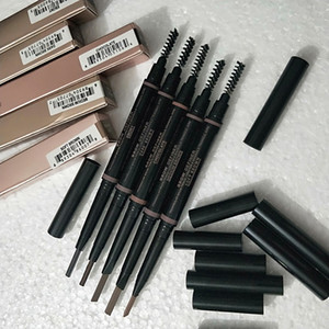 HOT MAKEUP Double Eyebrow Pencil BROW PENCIL CRAYON EBONY SOFT BROWN DARK BROWN MEDIUM BROWN CHOCOLATE Free Shipping