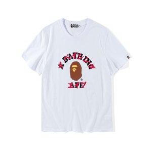 2018 여름 원숭이 티셔츠 새로운 일본어 잉어 프린트 T 셔츠 오프 남성의 레저 라운드 넥 반팔 화이트 저스틴 비버 (Justin Bieber) 셔츠 저렴한 판매