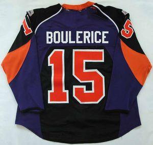 Custom 15 Jesse Boulerice Lehigh Valley Philadelphia Phantoms Hockey Jersey Embroidery Stitched Customize any number and name Jerseys