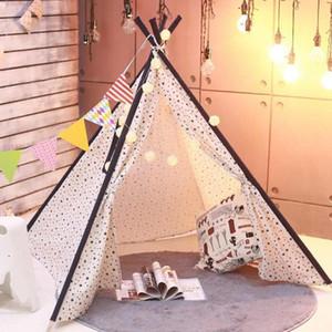 1,35 / 1,65 m Tragbare Kinder Zelte Spielhaus für Kinder Baumwollsegeltuch-Spiel-Zelt Wigwam Kind Kleine Teepee Raumdekoration