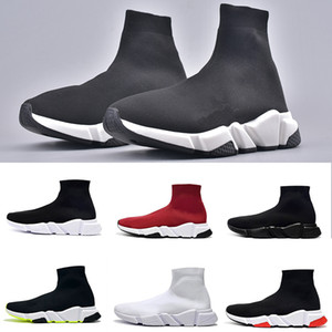 Balenciaga Sock shoes Luxury Brand  Chaussettes homme Speed ​​Mode Luxe Sneakers Triple Noir Runner Formateurs confortables Lumière Souliers simple