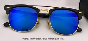الجملة-نادي النظارات الشمسية رجل إمرأة مصمم العلامة التجارية UV400 سيد نظارات كلاسيكية نظارات الشمس القيادة شبه بدون شفة rd3816 gafas مربع