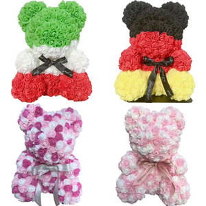 24X 40cm Bär von Roses Künstliche Blumen Startseite Hochzeit Festival DIY Günstige Hochzeitsdekoration-Geschenk-Kasten-Kranz-Crafts-bestes Geschenk amazzz