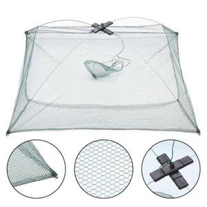Accessories Fishing Net Square Fishing Net Portable Folding Minnow Fish Trap Cage Nylon Network Cast Shrimp Crab Fish Mesh Cage