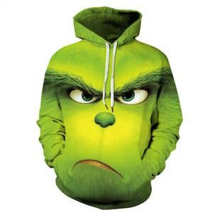 QNPQYX зеленый монстр 3D печати толстовка Мужчины Женщины уличная толстовка куртка мультфильм пуловер забавный косплей для Хэллоуина костюм