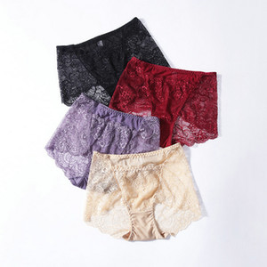 Xia Xinpin lace panties feel hollow temptation hips breathable cotton file in the waist ladies briefs
