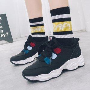 versión coreana de la primavera 2019 nuevos zapatos femeninos de la naturaleza Harajuku ulzzang zapatos de papá estribo