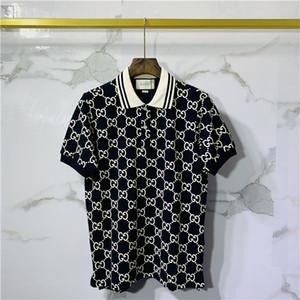 Homens e mulheres italiano luxo marca camisa pólo dos homens de roupas de tecido letras polo t-shirt gola casuais Desinger Polos bordado