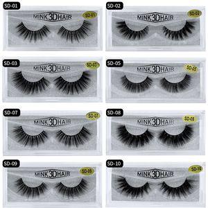 Factory Price! 20style 3d Mink eyelash Fake Eyelash Soft Natural Thick 3d HAIR false eyelash natural Extension fake Eyelashes