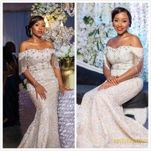 2019 Arabisch Luxuriöse Sexy Brautkleider Perlen Kristalle Mermaid Brautkleider Illusion Vintage Brautkleider ZJ535