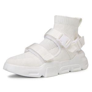 erkekler için 2019 Şık moda nefes alabilen yüksek üst çorap spor ayakkabısı
