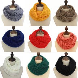 Femmes Infinity Scarf Casual Outdoor Hiver chaud tricot doux anneau Echarpes col rond Châle Lady Mode Crochet écharpe TTA1960