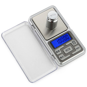 Escalas Mini Digital 0,01 g x 100g 200g 300g 500g Digital Pocket escalas do ouro jóias com diamantes Cozinha Balança eletrônica Peso Gram