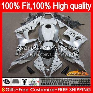100%Fit Repsol silver Injection For HONDA CBR 600 RR CC 600RR 600F5 CBR600RR F5 07 08 67HC.41 CBR600F5 600CC CBR600 RR 2007 2008 OEM Fairing