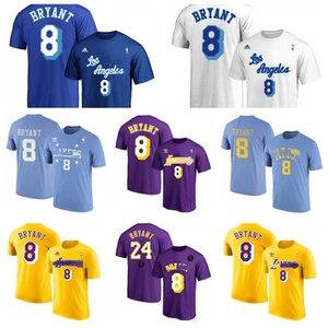 2020 Los AngelesLakersKobeBryantMens Throwback Jersey 8 Swingman 24 Yellow Basketball T-Shirt Purple Good