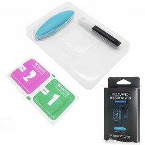 corpo cheio da tela de toque Nano cola líquida vidro temperado Protector para a Apple Series Watch 1 2 3 4 5 iWatch 38 milímetros 42 milímetros 40 milímetros 44 milímetros UV Luz DHL