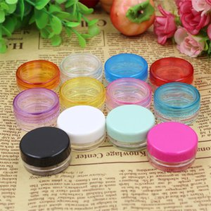 3g Mix Color Small Empty Cosmetic Refillable Bottles Plastic Eyeshadow Makeup Face Cream Jar Pot Container Bottle
