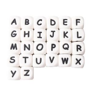 100 قطعة سيليكون القوارض الطفل التسنين رسائل الخرز ل خشخيشات سيليكون حبات اللؤلؤ عضاضة 12 ملليمتر الطفل سيليكون عضاضة