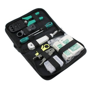 11 pçs / set RJ45 RJ11 RJ12 CAT5e portátil LAN ferramenta de reparo de rede Kit Utp Cable Tester E alicate Crimp Crimper Plug braçadeira PC
