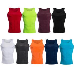100 pezzi da uomo Body Shapewear Corsetto dimagrante Pancia Shaper Vest 9 Compressione addome Pancia pancia Controllo biancheria intima Canotte