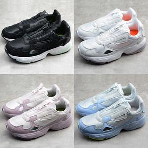 2019 New Release Falcon W pai Zipper Sapatos Originals Womens rolo Correndo Chaussures Primeknit Sneakers Branco Preto Designer Esporte Formadores