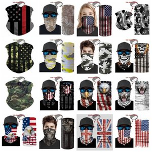 Outdoor USA Flag magic headscarf bandana cycling masks Head Neck Scarves Windproof Sport Camouflag face mask with FiltereT2I51008