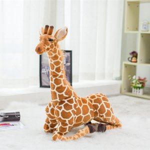 Animaux en peluche énorme Real Life girafe en peluche mignon peluche Poupées doux Simulation de girafe Poupée de haute qualité cadeau d'anniversaire pour enfants Toy