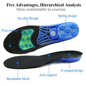 Spring Silicone Gel Ortopédico Sapatos Sole Insoles Pés Flat Pés Ortóticos Insoles Arco Apoio Inserções Plantar Fasciite, Cuidados com Pé