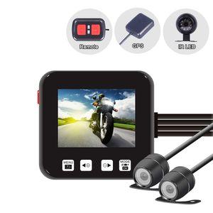 C6 Dual-Motorrad-Tätigkeits-Kamera-Recorder DVR Front- und Rückansicht Wasserdichte Motorrad Dash Cam Black Night Vision-Box