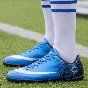 2018 Çocuğun Çim Futbol Ayakkabı Tf Çocuklar Için Futbol Ayakkabıları Sneakers çocuk Açık Spor Eğitimi Öğrenciler Gençler Için