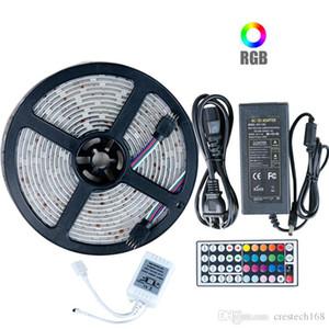 5050RGB led 지구 빛 DC12V5M10M IP20IP65 는 거실을 위한 led 램프를 방수 처리합니다+전력 공급+원격 제어 IR