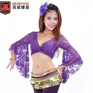 2019 Sexy Belly Dance 마치 남자들 한복 레이스 Butterfly Sleeve 탑 Bra 11 색