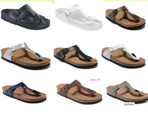 style thin strap designer shoe Madrid Men s Woman Flat Sandals Casual Classics Buckle Summer Beach Slipper Genuine Leather Slippers