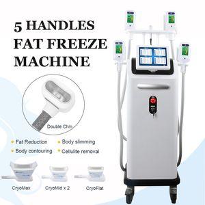 2019 Cryo Körperfett-Cellulite-Abbau-Maschine Cryolipolysis Einfrieren Fat Therapy 4 Griffe Gemeinsam Salon Verwendung Kälte Slimming Ausrüstung