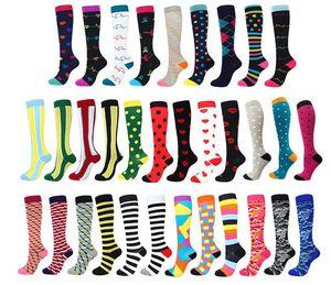 Хлопок компрессионные носки для женщин и мужчин лучший медицинский бег спортивная циркуляция восстановление путешествия чулки гольфы эластичные