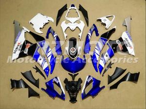 Новый стиль ABS прессформы мотоцикл обтекатели комплекты Fit для YAMAHA YZF-R6-600 08 09 2008-2016 10 11 12 13 14 15 16 кузова установлен синий белый