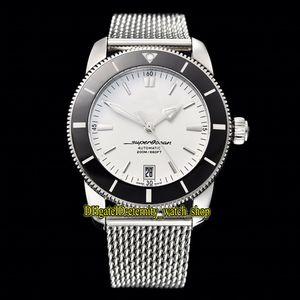 GF V2 Version améliorée Superocean II B20 AB201012.G827.154A ETA 2824 Montre automatique Cadran Blanc lumineux Hommes Bracelet en acier Montres Designer