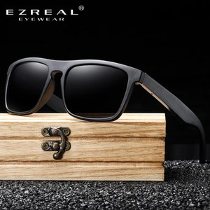 Ezreal New Arrivals Black Wooden Polarized Sunglasses For Men Bamboo Sunglasses Red Uv400 Lenses Fashion Driving Shades S5523 CkmHj