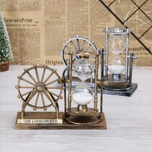 Presentes Areia Hourglass Roda Nova Retro Ferris Enfeites criativas Nostalgic Decoração Ornamentos Artesanato decorativa Objetos