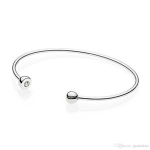 Fehmi% 100 925 Gümüş Yeni 597229CZ Essence Gümüş Açık Banger Orjinal Kadın Charm Takı Hediye Ücretsiz Kargo Toptan