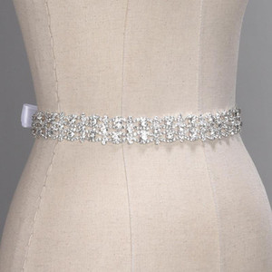 Bling artesanal de cristal Cintos de casamento Gold Silver Rhinestone Wedding Dress Belt casamento formal Acessórios nupcial fita Sash Belt CPA1393