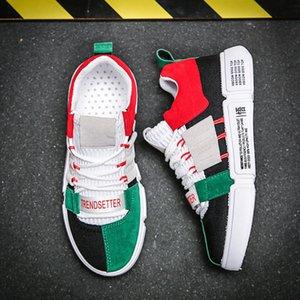 LZJ Chaussures New Casual Colorful hommes Baskets mode Homme respirant Mans Chaussures Couleurs mélangées Chaussures de marche Homme Appartements 2019