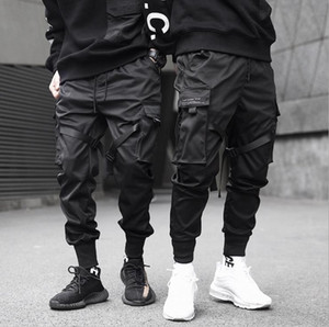 Mens Functional and Tactical Tooling Pants Casual Jogger Pants Spring Summer Fashion Trousers Teenager Pencil Pants