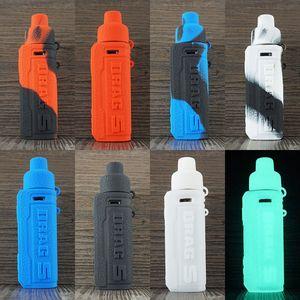 Ağızlık toz kapağı Silikon deri kılıflar Fit VOOPOO Drag S Kiti DHL ile Kılıfı Kapağı Taşıma SÜRÜKLEYİN S Kılıf Silikon Kol