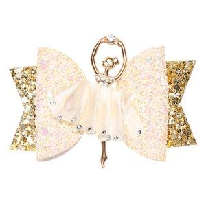 Ballet Filles Bow Barrettes Bow sequin Barrettes Danse Filles Hairpins Enfants Bébé Belle Barrettes Accessoires pour cheveux Cadeau HHA1006